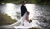 Focal Point Video: Eugene Oregon bride groom by river at sunset, sample clip from wedding video