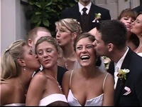 Focal Point Digital Media: casual photo of bride groom wedding party at the Old Church in Portland, wedding film sample clip