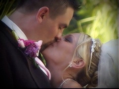 Focal Point Video: bride groom kiss at Abernethy Center, wedding video sample clip
